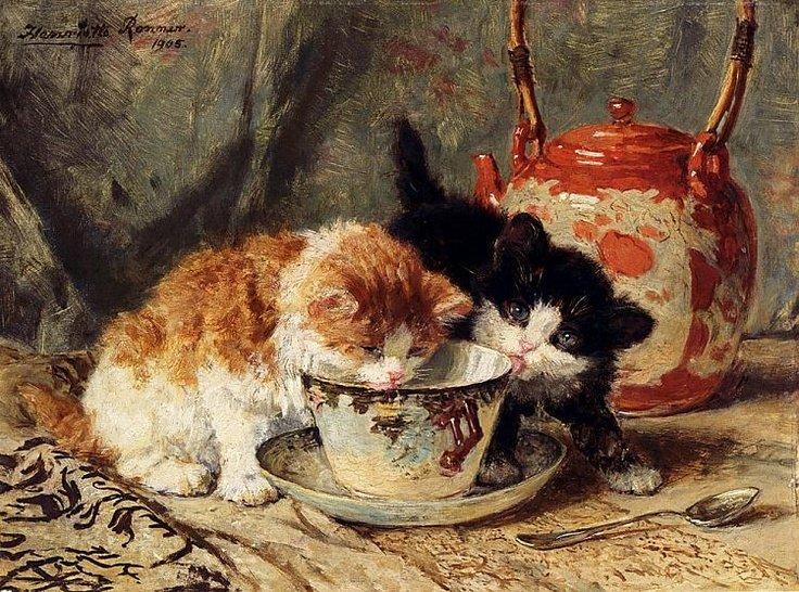 Cuadro de gatitos pequeños