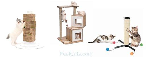 accesorios rascadores para los gatos
