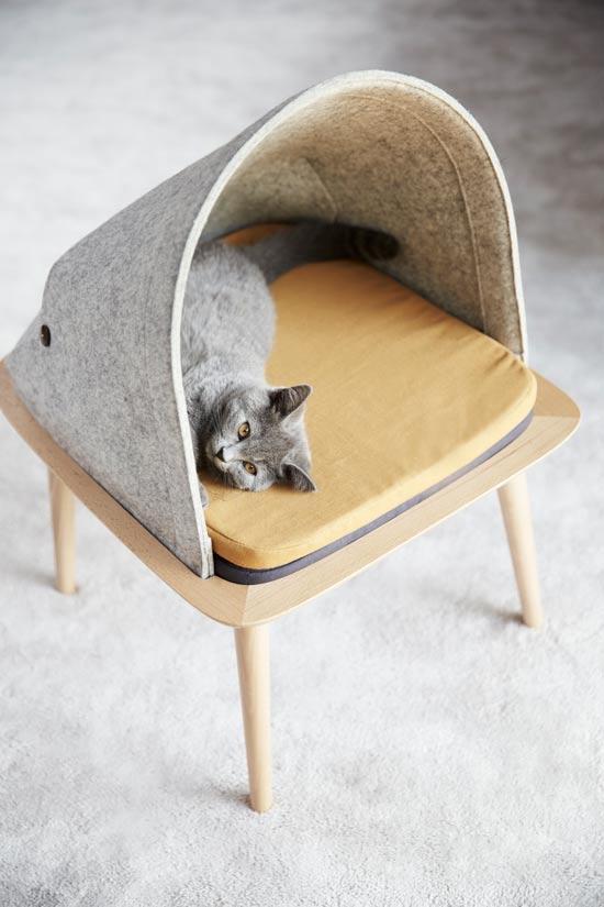 cama para gatos de diseño y lujo
