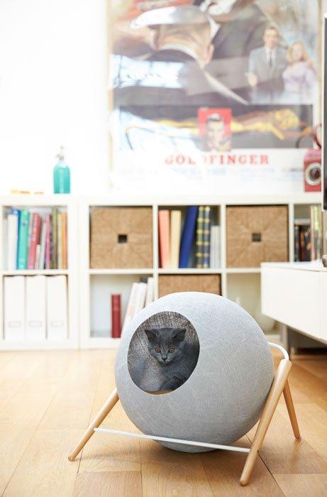 casa gris para gatos de meyou