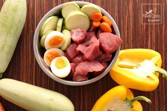 comida cruda, para elaborar comida deshidratada para perros
