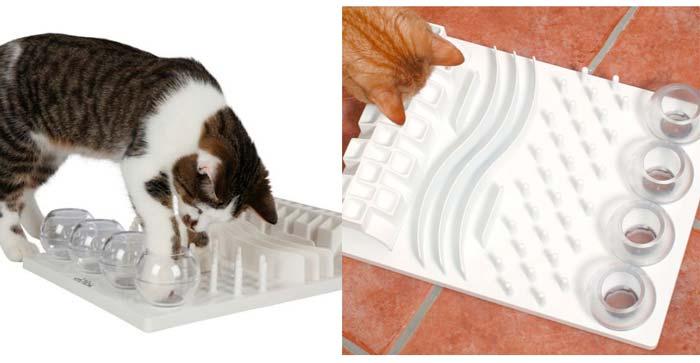 juegos de inteligencia para gatos, tipo comedero interactivo