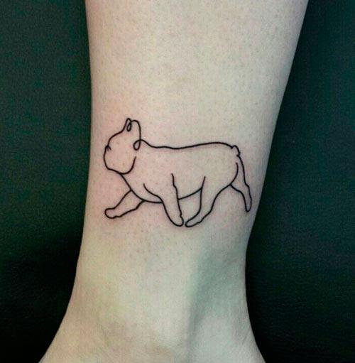 tatuaje de perro bulldog