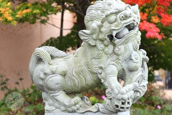 escultura de perro en Japón
